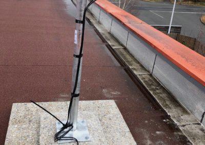 Installation d'une antenne 4g pour accès internet sur toit terrasse à Theizé 69620