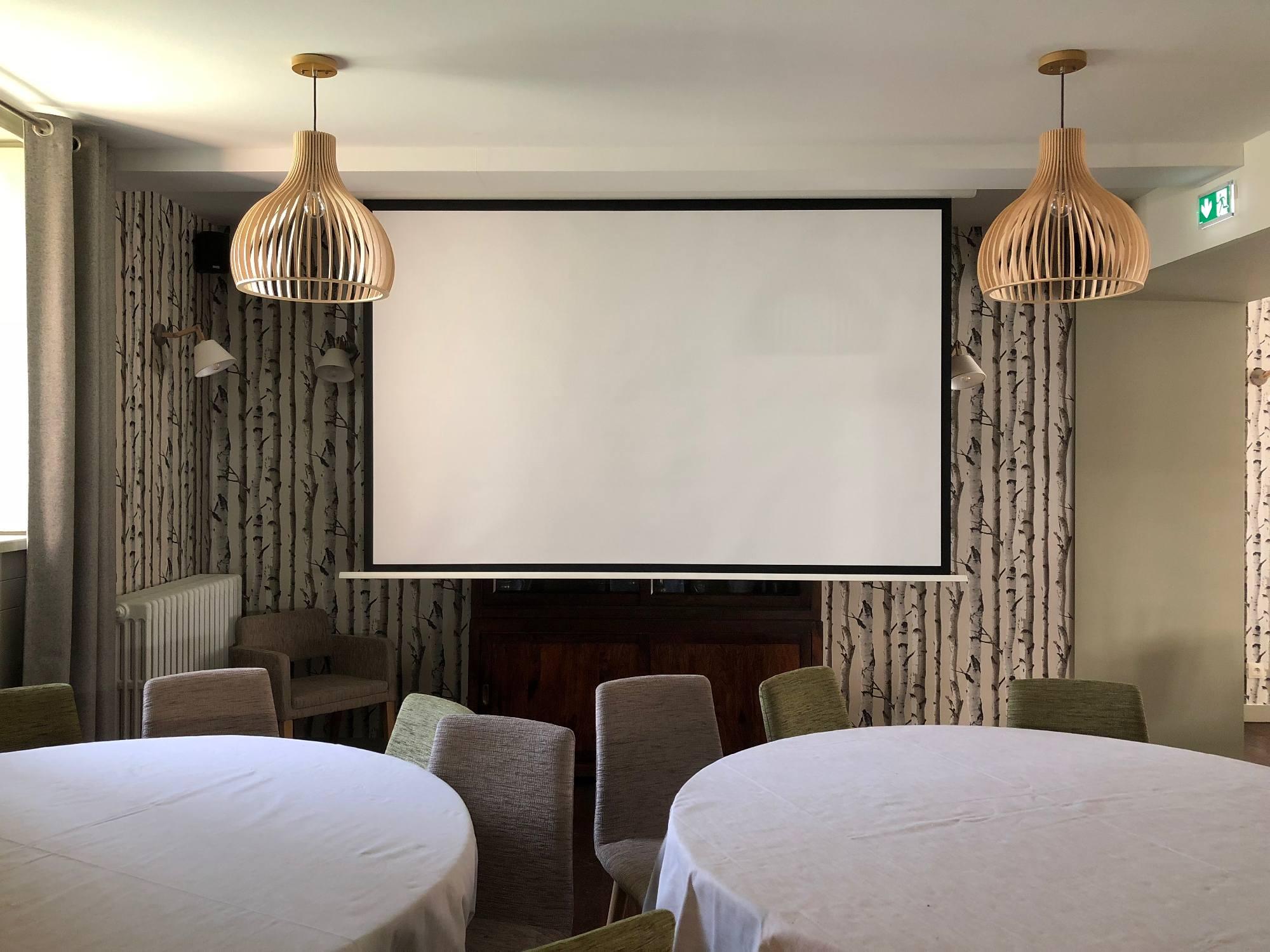 69650 Installation d'un écran motorisé dans l'Hôtel Restaurant Tante Yvonne à Quincieux