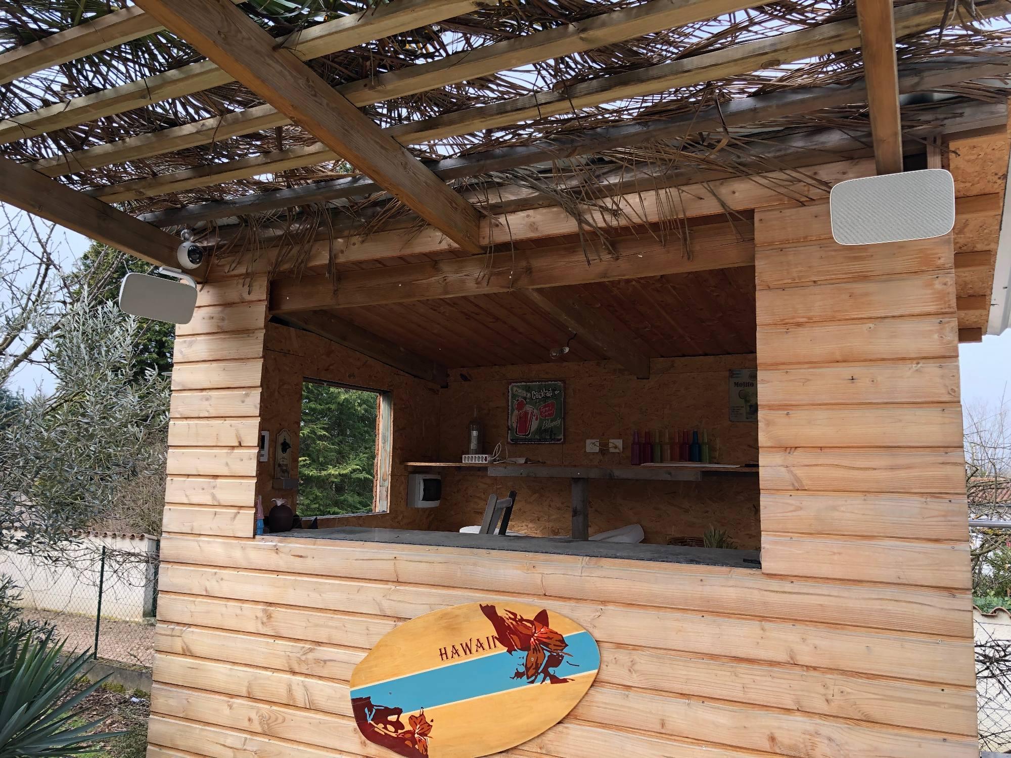 Installation Hifi à Montmerle sur saône, hauts parleurs extérieurs