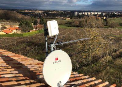 Antenne UHF + parabole satellite + modem 4G Pommiers 69480